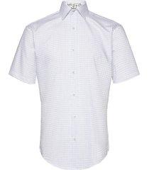 check w/blossom kortärmad skjorta blå seven seas copenhagen