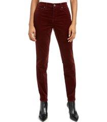 diana high rise fab ab skinny corduroy pants