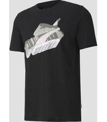 camiseta puma sneaker inspired preta masculina