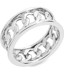 sterling forever women's sterling silver curb chain band ring/size 6 - size 6