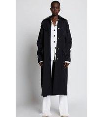 proenza schouler nylon gabardine trench coat black 6