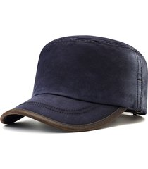 berretto piatto regolabile in cotone da uomo regolabile antivento stile semplice selvaggio cappello da viaggio per la casa