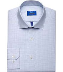 perry ellis premium blue check tech dress shirt
