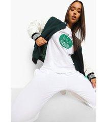 health club t-shirt, white