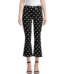 slim-fit polka dot crop jeans