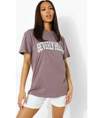 oversized beverly hills t-shirt, charcoal