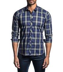 semi-fit plaid shirt