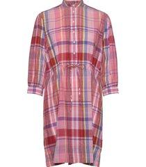 d2. the madras dress jurk knielengte roze gant