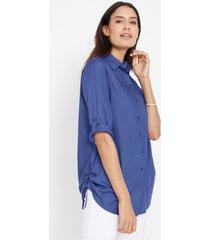 lange blouse van viscose, korte mouw