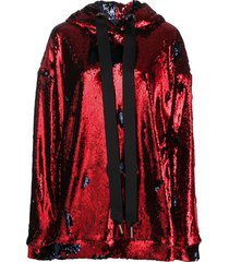 marques'almeida sequinned oversized-fit hoodie - blue