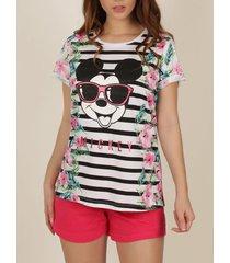 pyjama's / nachthemden admas mickey jungle disney pyjama t-shirt shorts
