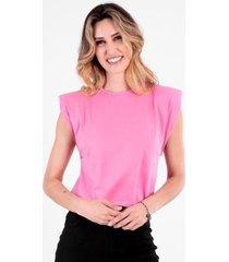 t-shirt muscle tee com ombreira feminina - feminino