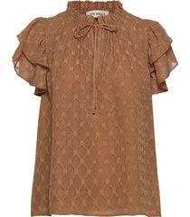 blouse blouses short-sleeved bruin sofie schnoor