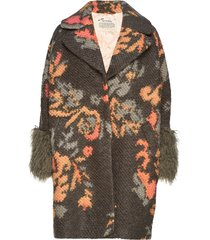 rare & free jacquard coat wollen jas lange jas multi/patroon odd molly