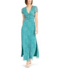 bar iii printed chiffon maxi dress, created for macy's
