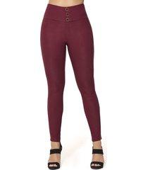 pantalon eliot vinotinto para mujer croydon