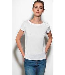 biała bluzka z lyocellu