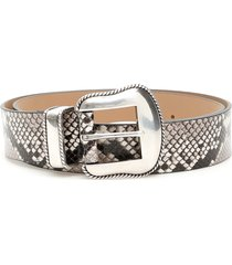 b-low the belt python print villain belt