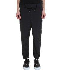 neil barrett pants in black nylon