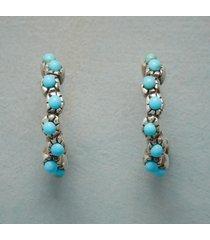 turquoise filigree hoop earrings