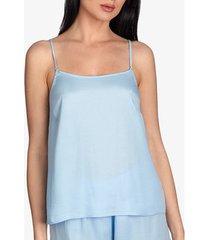 pyjama's / nachthemden ajour vergeet-me-niet pyjamatop in hemelsblauw -hemdje