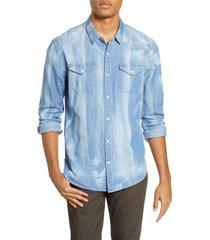 john varvatos star usa marshall regular fit western shirt, size small r in indigo at nordstrom