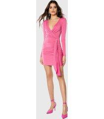 vestido ivyrevel corto rosa - calce ajustado