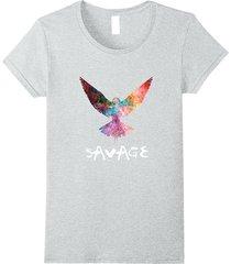 be a maverick - be a savage! - bird in flight t-shirt women