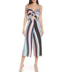 women's ali & jay fiesta stripe chiffon jumpsuit