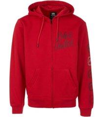 ecko unltd men's ecko zip up hoodie with vert rhino repeat