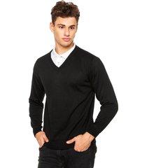 suéter officina do tricô preto.