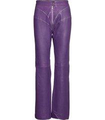 ada pants leather leggings/byxor lila hosbjerg