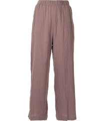 0711 pattern-effect culotte trousers - red