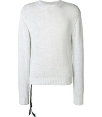 unravel project longsleeved loose fitted sweatshirt - grey