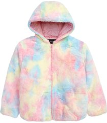 toddler girl's rothschild faux fur tie dye jacket, size 3t - pink