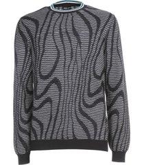 giorgio armani sweater crew neck spiral