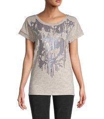 lily sequin-embellished t-shirt