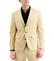 inc men's ponte slim-fit utility blazer, created for macy's