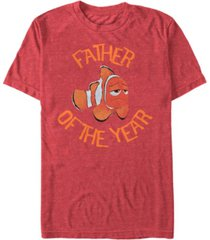 disney men's pixar finding dory, marlin father of the year short sleeve t-shirt
