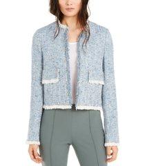 escada studded tweed jacket