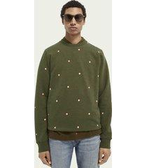 scotch & soda crew-neck print sweater