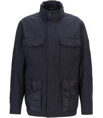 boss men's carpa water-repellent hooded field jacket