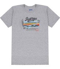 camiseta gris-multicolor colore