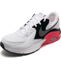 tenis lifestyle blanco-negro-gris-rosa nike air max excee