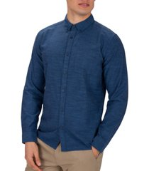 hurley men's solid button-down shirt