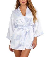 dreamgirl satin robe & chemise 2pc set