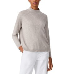 eileen fisher funnel-neck bracelet-sleeve sweater, regular and plus sizes