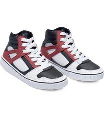 botas blanco rojo mp