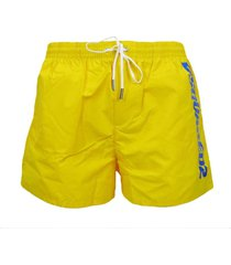 fluo boxer swimsuit with electric blue logo