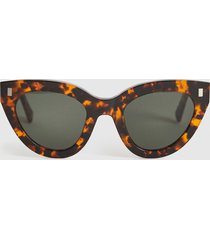reiss neko - monokel eyewear acetate sunglasses in brown, womens
